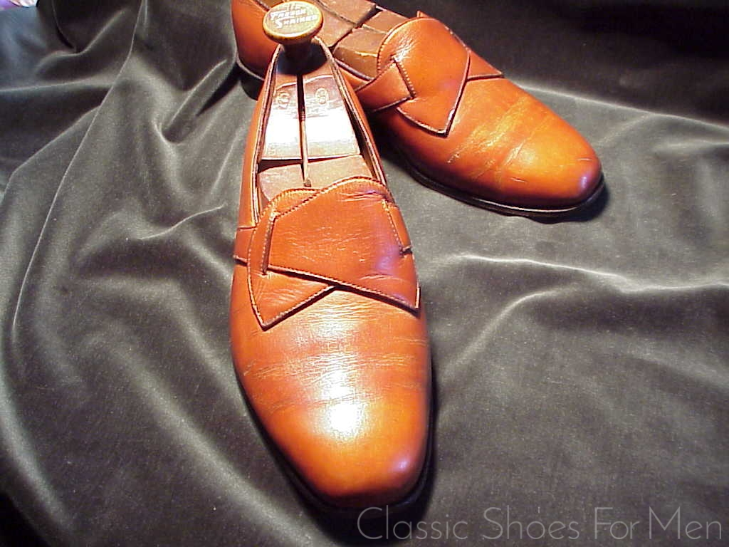 "9758050e755 George Cleverley designed, E. VOGEL, New York, BESPOKE ""Butterfly"" Loafer:  41.5D/E 