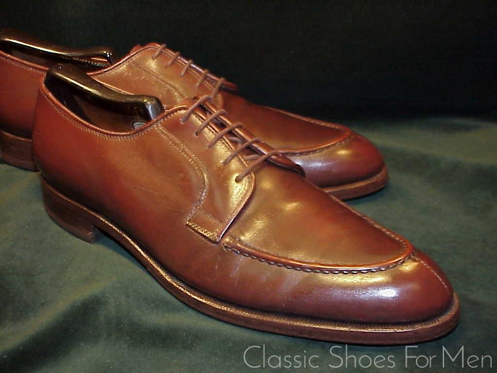 *Vintage Custom Made LEE KEE (Hong Kong) Split-Toe, Raised Apron,  NORWEGIAN: 42 5D | Classic Shoes For Men