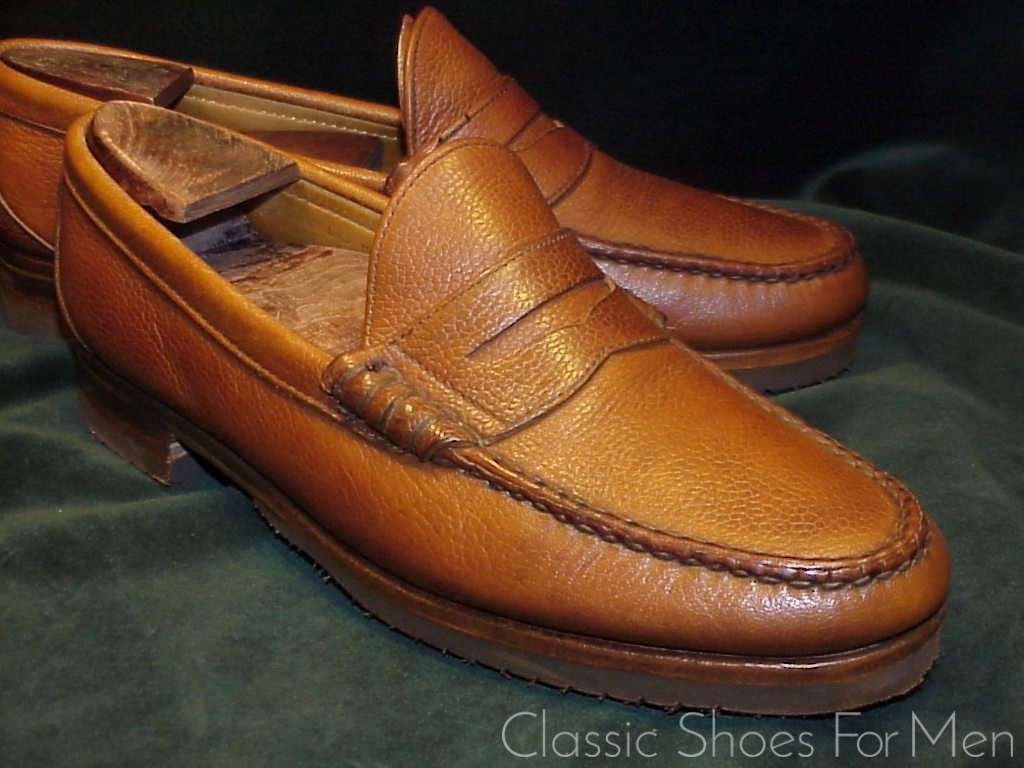 a80e39a539f BROOKS BROTHERS All-Weather Scotch-Grain Penny Loafer  41-41.5C D ...