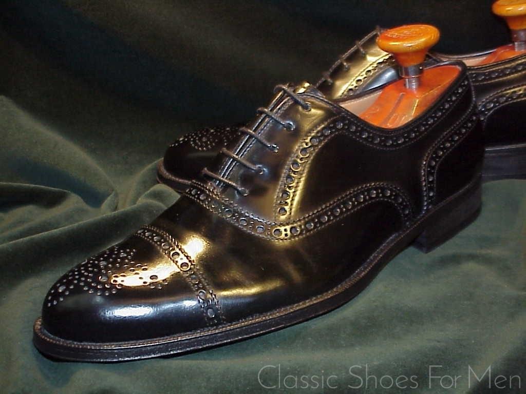32355674bca3f *Neuwertig – BROOKS BROTHERS Cap-Toe Half Brogue Oxford: 42.5D | Classic  Shoes For Men