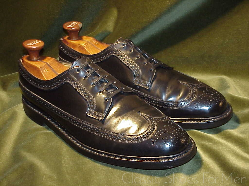 Custom Order FLORSHEIM IMPERIAL Black SHELL CORDOVAN Full Brogue ... bca1a1ca9