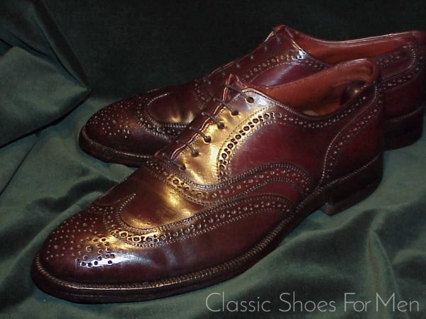 French Shriner Urner Dhell Cordovan Full Brogue Oxford 44D
