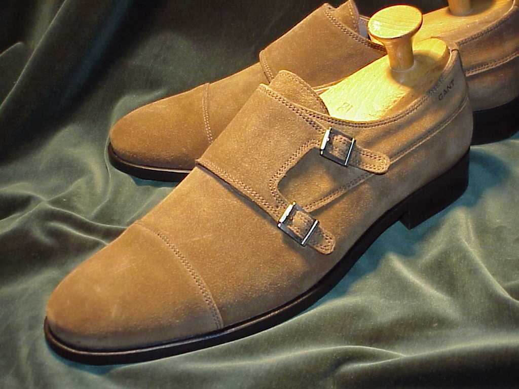 Weather Suede Double Monk Strap; 46D