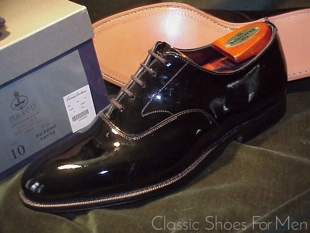 brooks brothers patent leather shoes