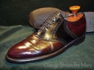 Vintage Bally Saddle Oxford 42