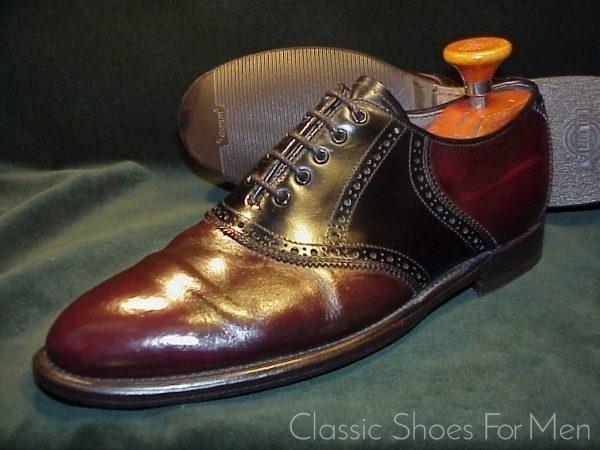 Vintage Bally Saddle Oxford 42