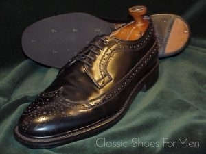 Vintage Bespoke Lee Kee Shell Cordovan Full Brogue Derby Budapester 45 D