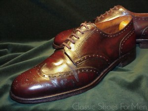 43c39f4c9bbf  BESPOKE HENRY MAXWELL (9 Dover Street) Full Wing-Tip Brogue Derby  45-45.5D