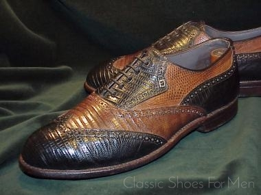 a7538633c8 Vintage Custom FOOTJOY Lizard Full Brogue Oxford SPECTATOR  43-43.5 ...