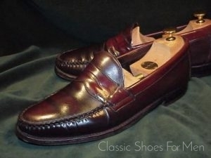 c30f8aa3f54 Vintage JOHNSTON   MURPHY Shell Cordovan Penny Loafer  43-43.5C D ...