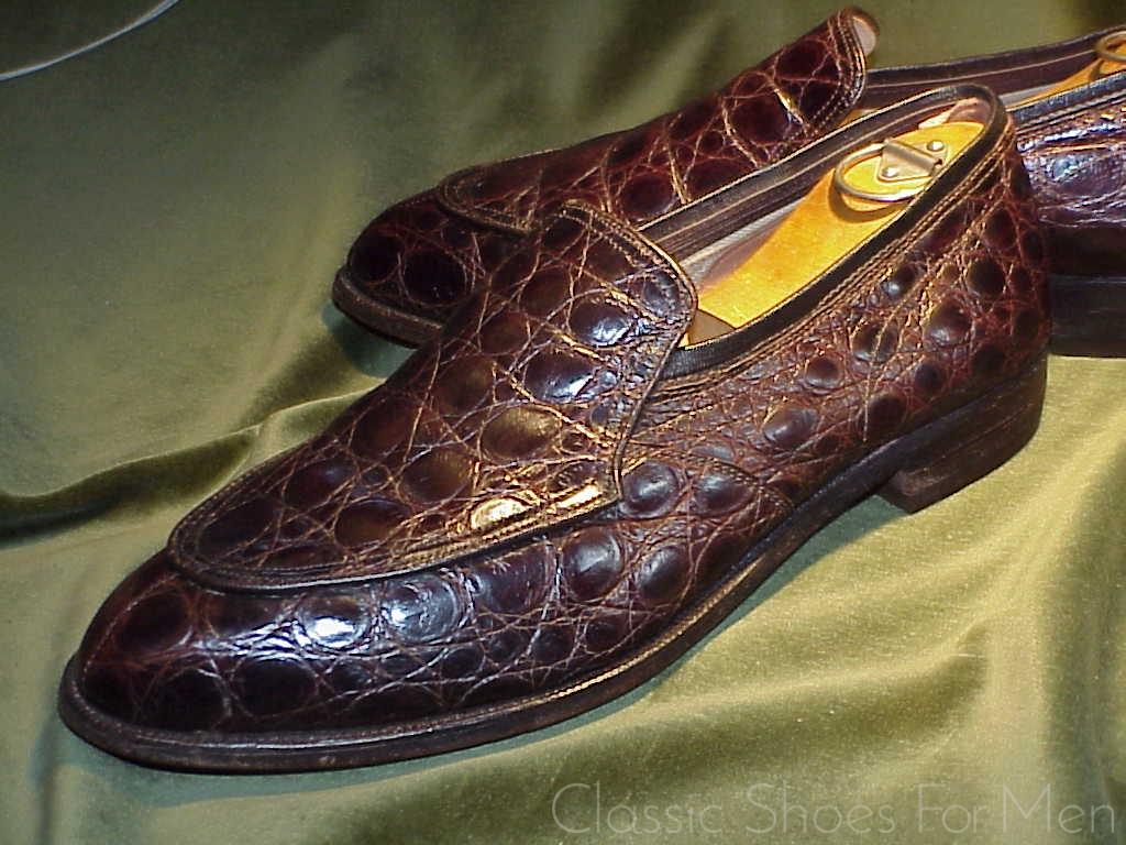 0ce7c474400e  Neuwertig – Vintage Spade Sole NETTLETON Alligator Loafer