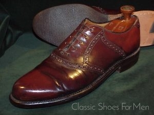 Vintage Nettleton Shell Cordovan Saddle Oxford 45D