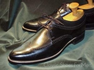 0059f075b7a Vintage STACY-ADAMS 3-Eyelet Wing-Tip Brogue, Circa 1950: 44D ...